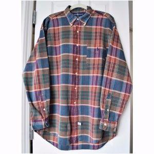 RALPH LAUREN Blaire LARGE Button Shirt Plaid